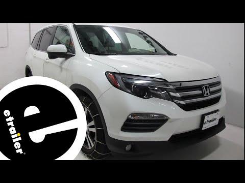 etrailer | Glacier Cable Snow Tire Chains Review - 2016 Honda Pilot
