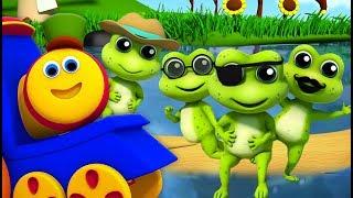 боб поезд | пять маленьких пятнистых лягушек | Five Little Speckled Frog