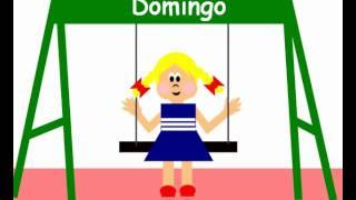 Испанский язык, Дни недели / los días de la semana (песенка)