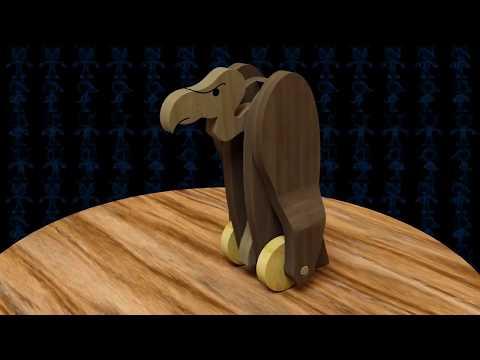 Vlad The Vulgar Vulture Wooden Toy 3D Model