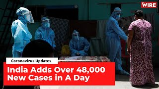 For the Fifth Straight Day, India Adds Over 45,000 New Infections | COVID-19 Updates  IMAGES, GIF, ANIMATED GIF, WALLPAPER, STICKER FOR WHATSAPP & FACEBOOK