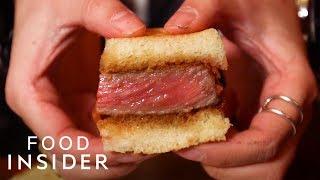 What A $180 Wagyu Sandwich Tastes Like | What's It Taste Like