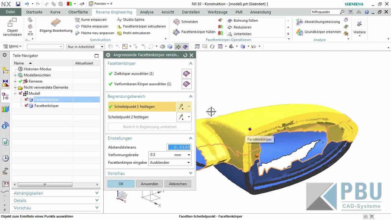 Vorschaubild: NX: Optimieren von Scandaten für den 3D-Druck