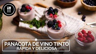 PANACOTA DE VINO TINTO rápida y deliciosa