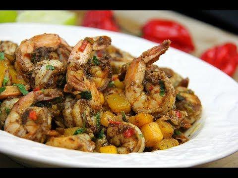 Stove-top Mango Jerk Shrimp #TastyTuesdays | CaribbeanPot.com