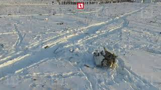 Кадры с дрона. Место падения самолета Ан-148