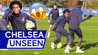 Willian vs Tammy 😱+ Quality Finishing Drill Spices Up Training 👌| Chelsea Unseen