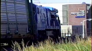 preview picture of video 'Conrail Worcester four freights in one hour'