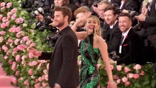 Miley Cyrus and Liam Hemsworth at the 2019 MET gala in NYC