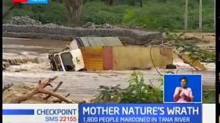 Families forced to sleep on tree tops due to raging floods