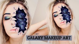 GALAXY/SPACE Makeup Face Art. *Cracked Skin*