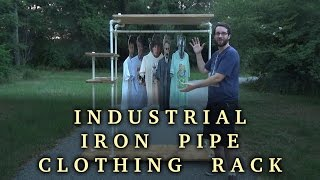 Lets Make An Industrial Iron Pipe Clothing Rack | How To