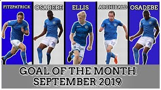 Goal Of The Month: September 2019