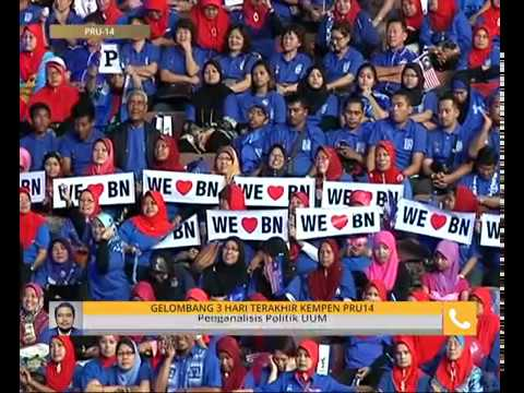 #MalaysiaMemilih: Gelombang 3 hari terakhir kempen PRU14