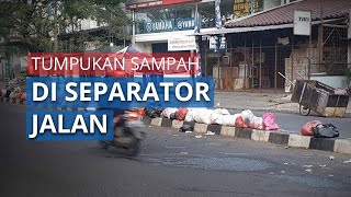 Aksi Buang Sampah di Separator Jalan Kawasan Ciledug, Warga: Ya Langsung Ditaruh Saja