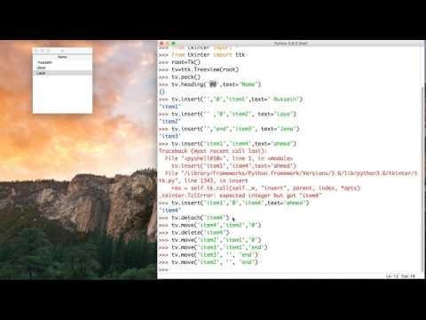 50- Python GUI || TreeView- عرض الجداول