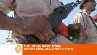 preview picture of video 'NTC chief arrives in Tripoli'