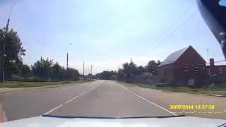 ДТП ст.Анастасиевская .Женщина за рулём хотела проскочить.