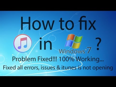 How to fix iTunes in Windows 7 ? Problem Fixed 100% Working...