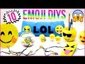 10 DIY Emoji Projects You NEED To Try! Phone Case, Stress Ball, Room Decor, Organization & More DIYs