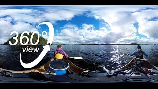 BIG ALGONQUIN CANOE TRIP - 360° VR VIDEO - DAY 7 - BREAKFAST ON HAPPY ISLE & CANOEING OPEONGO! (4K)