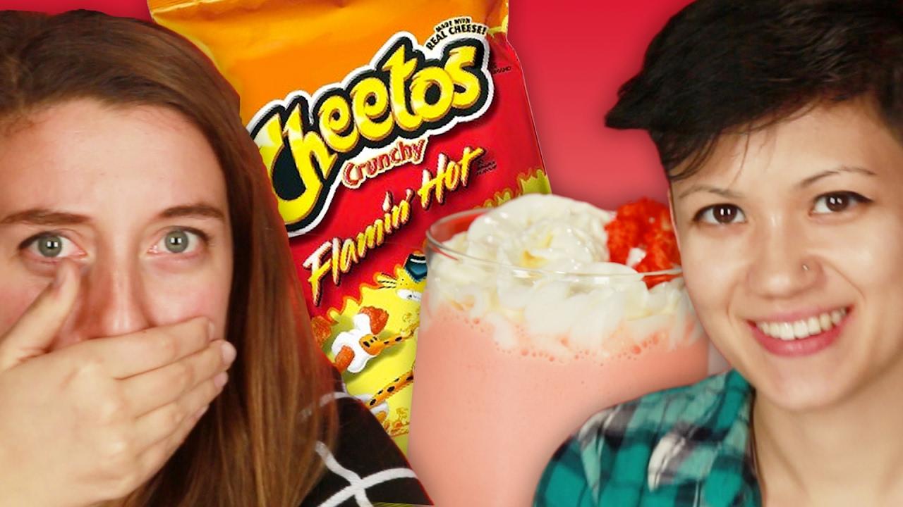 People Try The Hot Cheetos Milkshake thumbnail