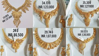 Latest Gold Necklaces Design With Price And Weight