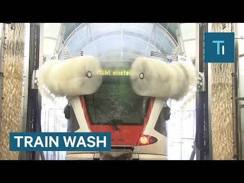 Turns out, a train wash isn't all that different from a car wash