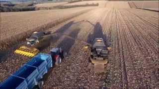 Moisson Maïs 2 CR9080 En Charente Vu Du Ciel