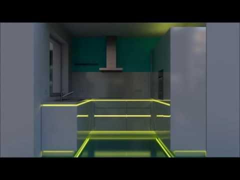 Küche | RGB LED | Beleuchtung in einer Einbauküche in Marl