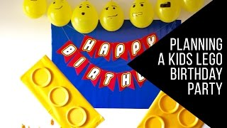 Planning A Kids Lego Birthday Party