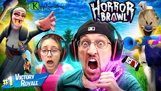 CHUBBY SQUADS! Ice Scream Charlies vs. EVIL NUN! (FGTeeV HORROR BRAWL Multiplayer Victory Royale)