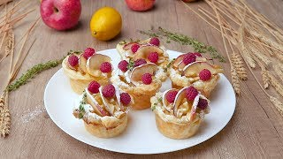 Как приготовить корзинки с яблоками - Рецепты от Со Вкусом