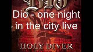 Dio - one night in the city