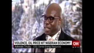 CNN Interviews Oando GCE -- Mr Wale Tinubu at World Economic Forum Davos 2015