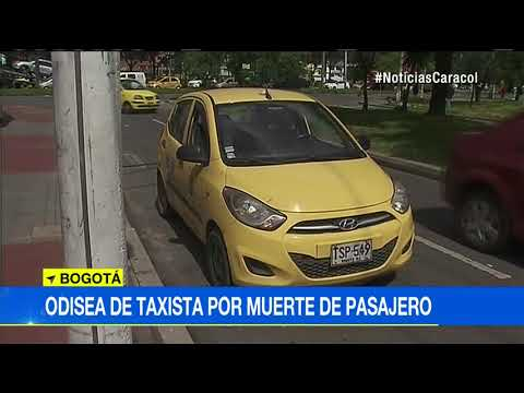 A taxista se le murio un pasajero y lo que paso despues es de no creer