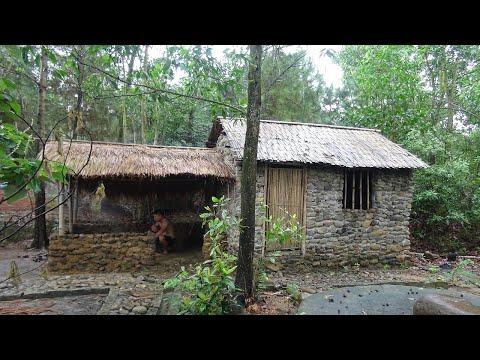 Primitive Life:Build kitchen-shed!