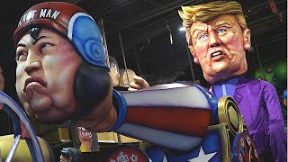 Trump shooting Kim Jong-un out of a cannon and other highlights from Carnival 2018