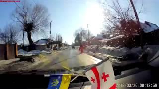 ДТП на вул. Пушкинській (момент аварії відео з реєстратора)