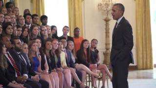 Obama Candid Answers To Intern Questions- Full Video