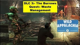Fallout 76 The Burrows DLC - Waste Management - Get Past Pump Station - Investigate Pump Station