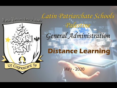 Distance learning in Latin Patriarchate Schools during coronavirus lockdown