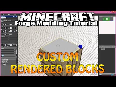 Minecraft Forge Modding Tutorial 1.7.10 - Custom Rendered Block - Part 1 (Model&Renderclass)