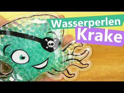 Wasserperlen Krake 🐙 Antistresstier oder Kalt/Warm Kompresse!? Super niedlich