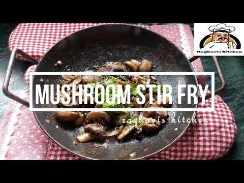 mushroom stir fry    mushrrom pepper stir fry