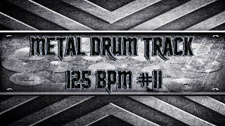 Modern Metal Drum Track 125 BPM (HQ,HD)