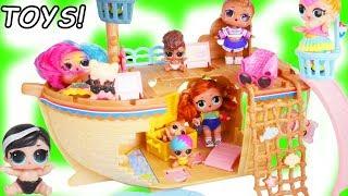 LOL Surprise Treasure Hunt for Playmobil Police Dolls at Vending Machine