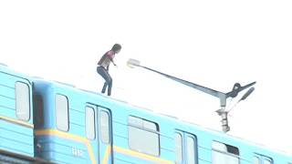 Insane train surfing Ukraine. Sasha Shapik