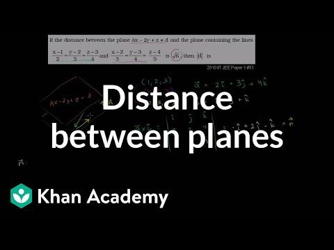 Distance between planes (video) | Khan Academy