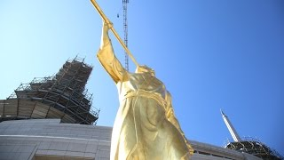 Angel Moroni Statue Tops Rome Italy Temple